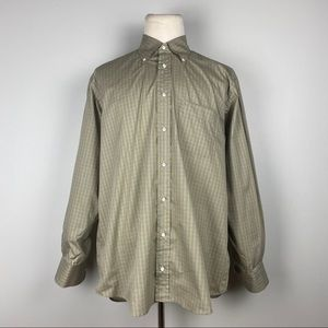 Luciano Barbera Tan Check Shirt